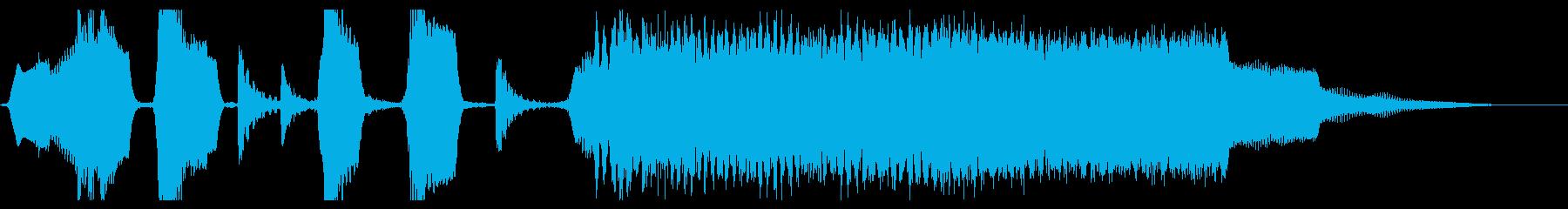 リコーダーや鍵盤の明るく短いジングルの再生済みの波形