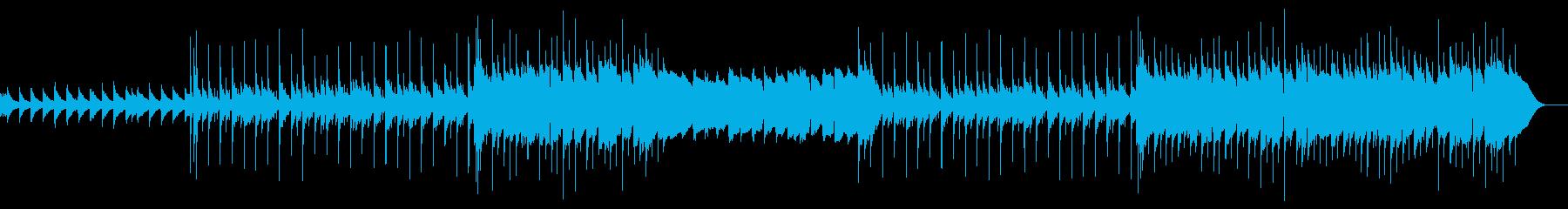 アコースティックギターによる切ない曲の再生済みの波形
