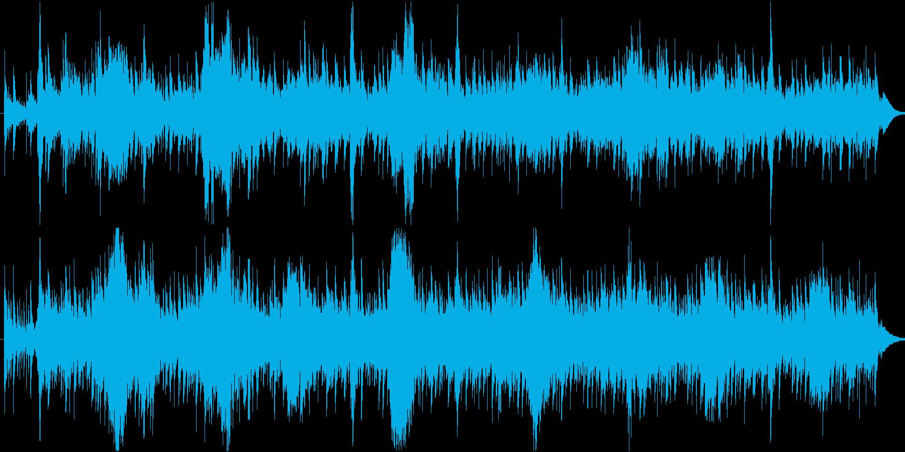 エキゾチックなアンビエント系BGMの再生済みの波形