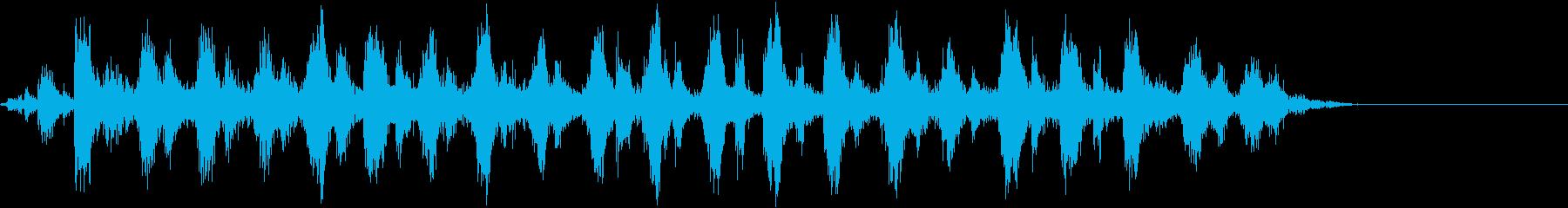 音響ギター:のこぎりの鳴き声、漫画...の再生済みの波形