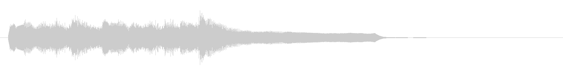 ポップで明るく可愛いアイキャッチ2の未再生の波形
