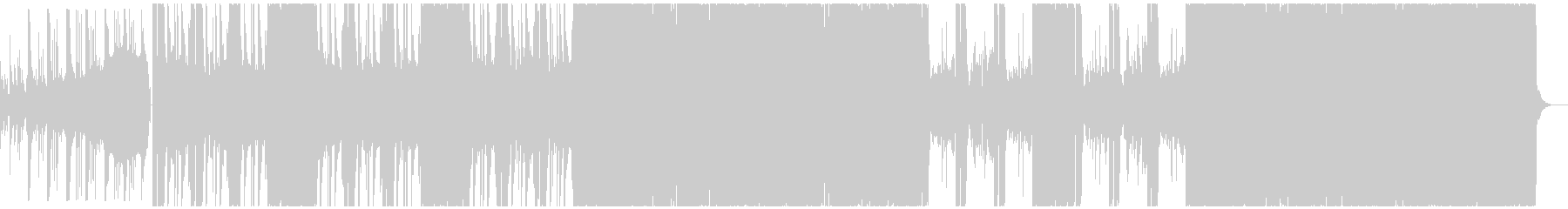 激しいデジタルなエレキロックBGMの未再生の波形