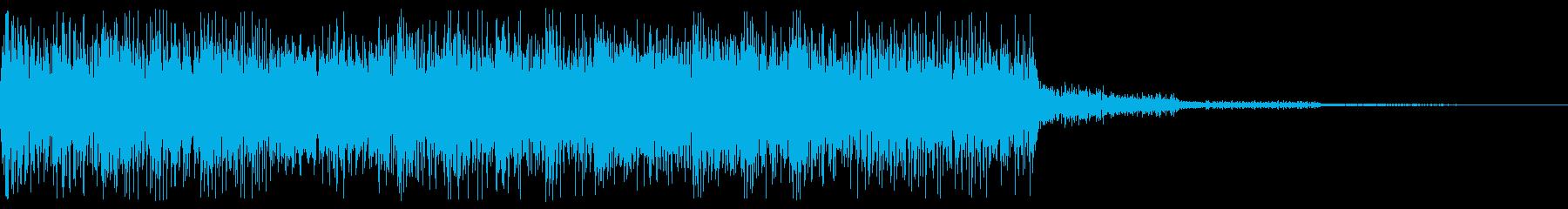 レトロゲーム音 場面転換、ゲームオーバーの再生済みの波形