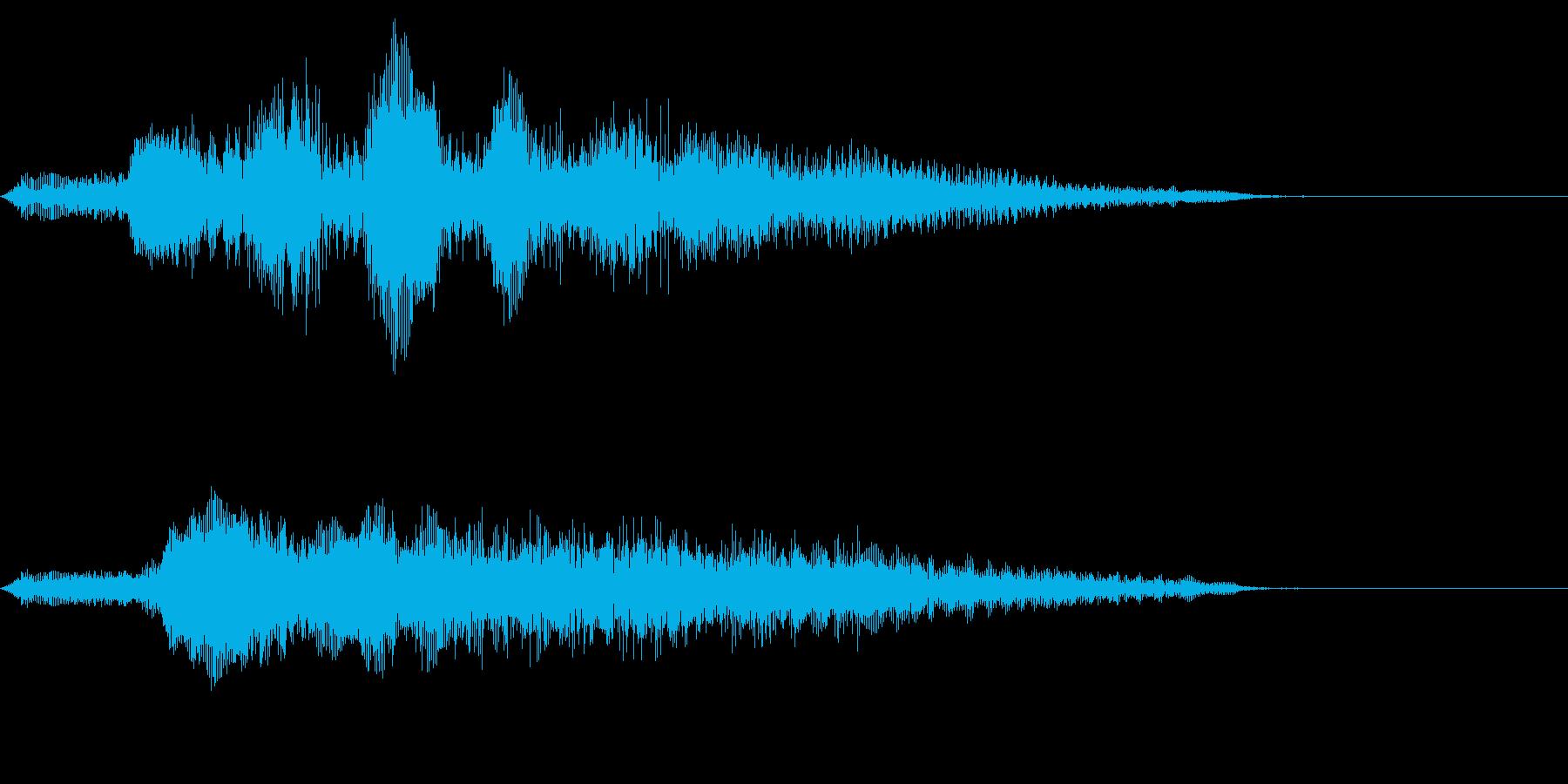 ケケケケ(妖怪、悪そうな笑い声)の再生済みの波形
