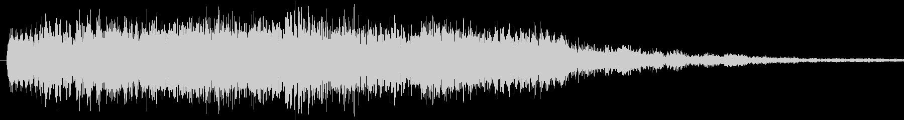 可愛らしい効果音の未再生の波形