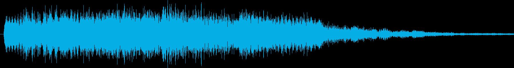可愛らしい効果音の再生済みの波形