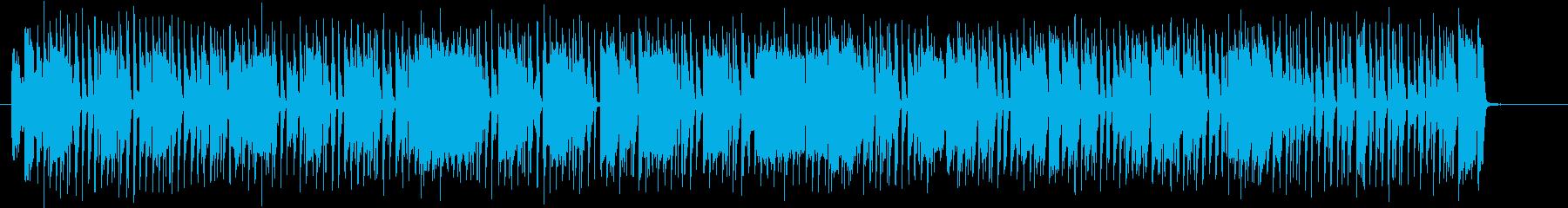楽しげでおしゃれなシンセサイザーポップスの再生済みの波形