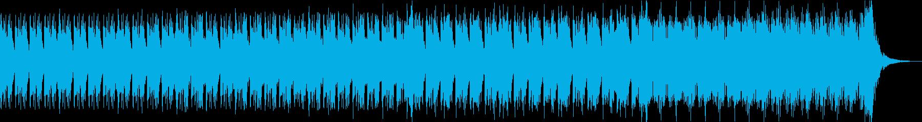和太鼓とストリングスの緊迫した和風曲の再生済みの波形