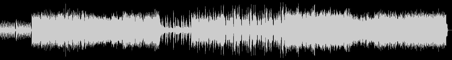 ストリングスのハードロックなバンドBGMの未再生の波形
