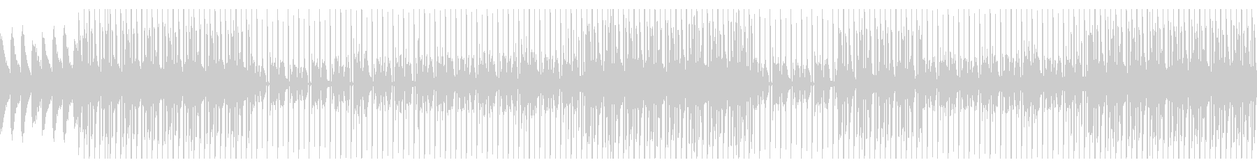 シティポップ風のオシャレなBGMの未再生の波形