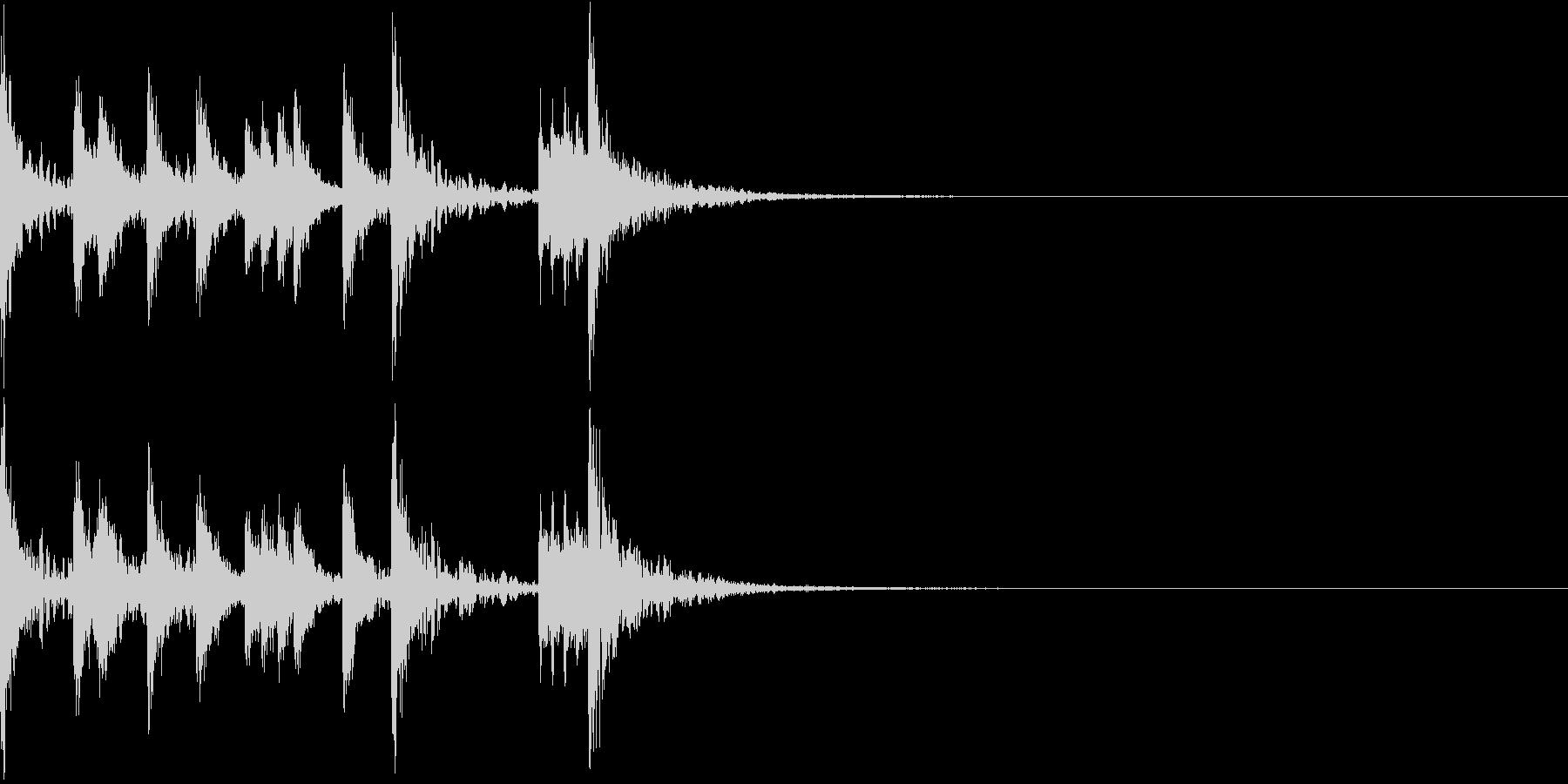 和太鼓が印象的な怪しい和風ジングルの未再生の波形