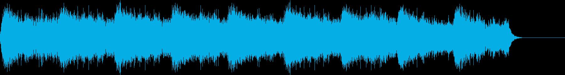 暗く不気味な雰囲気のホラーBGM の再生済みの波形