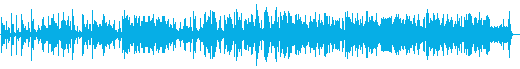 美しく奇麗なシンセサイザーサウンドの再生済みの波形