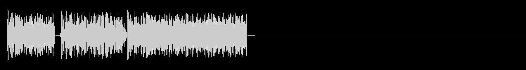 短いスタッタースイープ1の未再生の波形