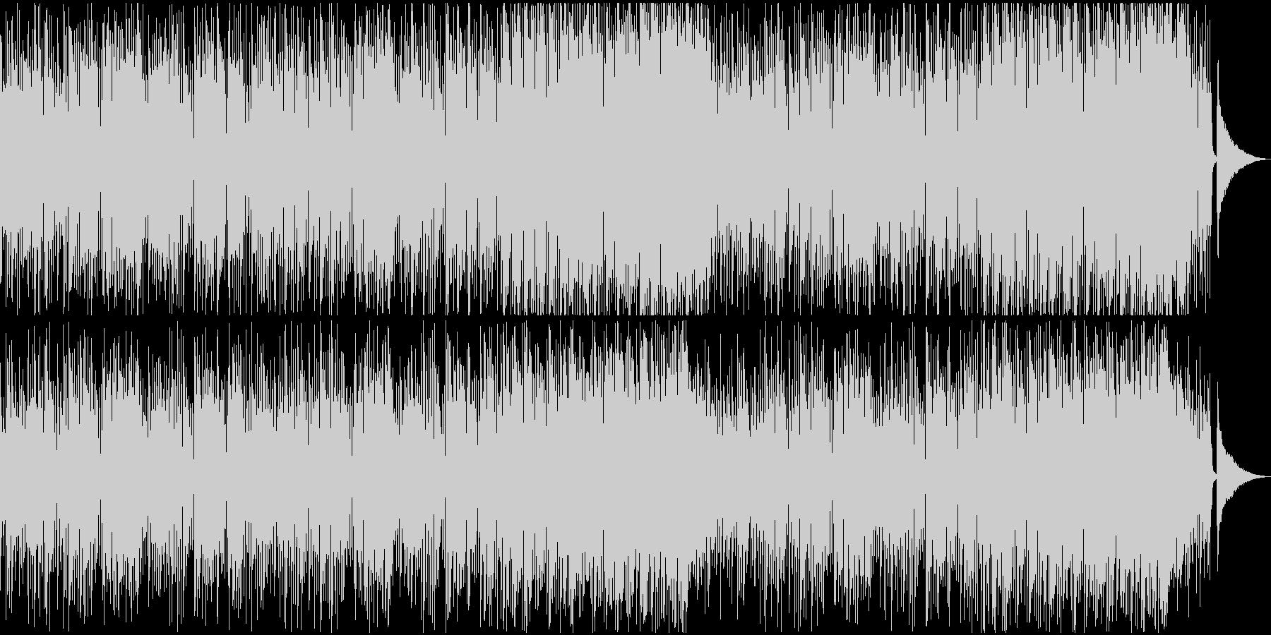 軽快なアコースティックギター映像用BGMの未再生の波形