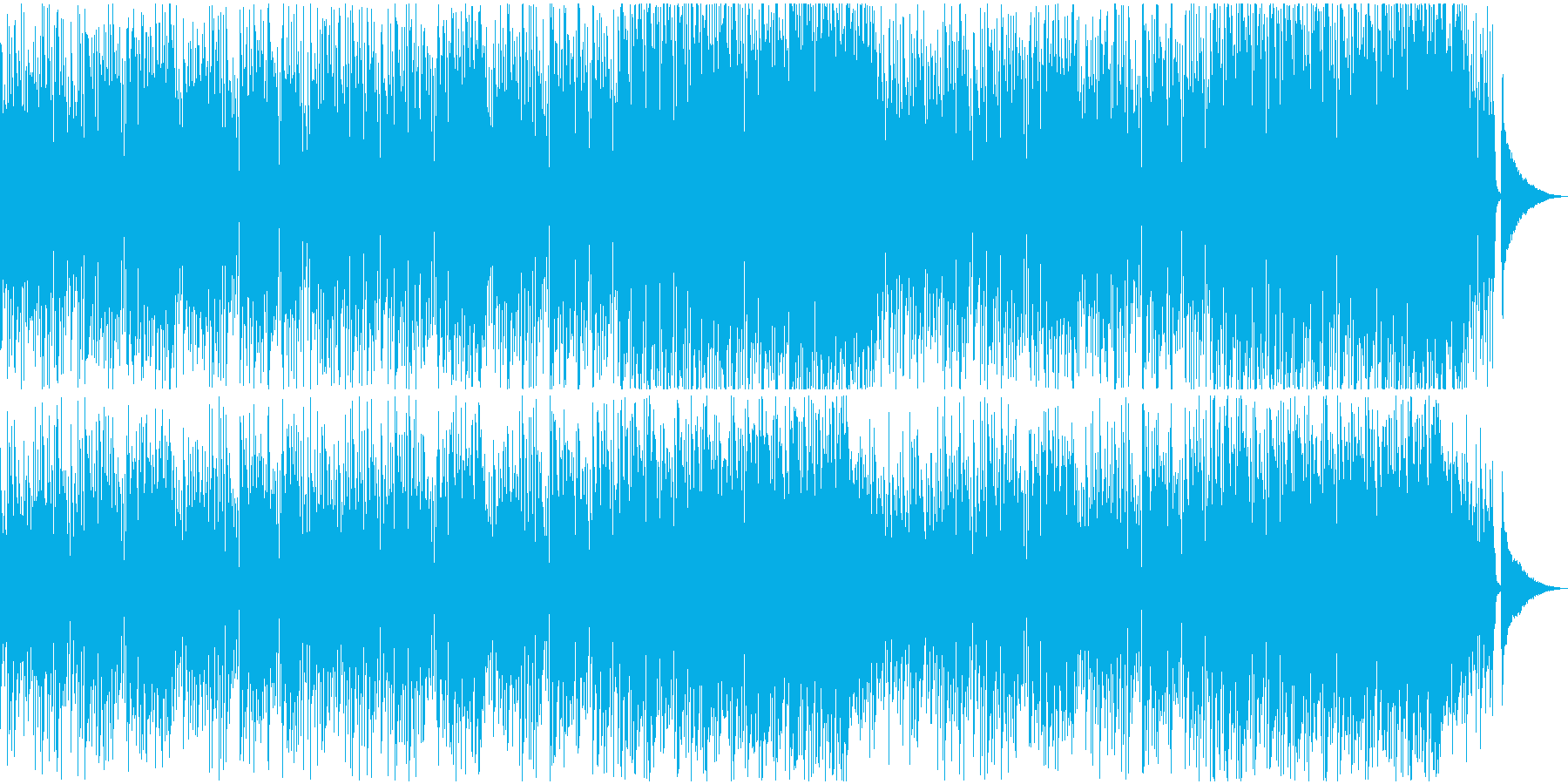 軽快なアコースティックギター映像用BGMの再生済みの波形