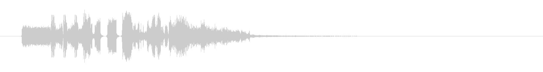 FMジングル制作にピッタリな効果音の未再生の波形