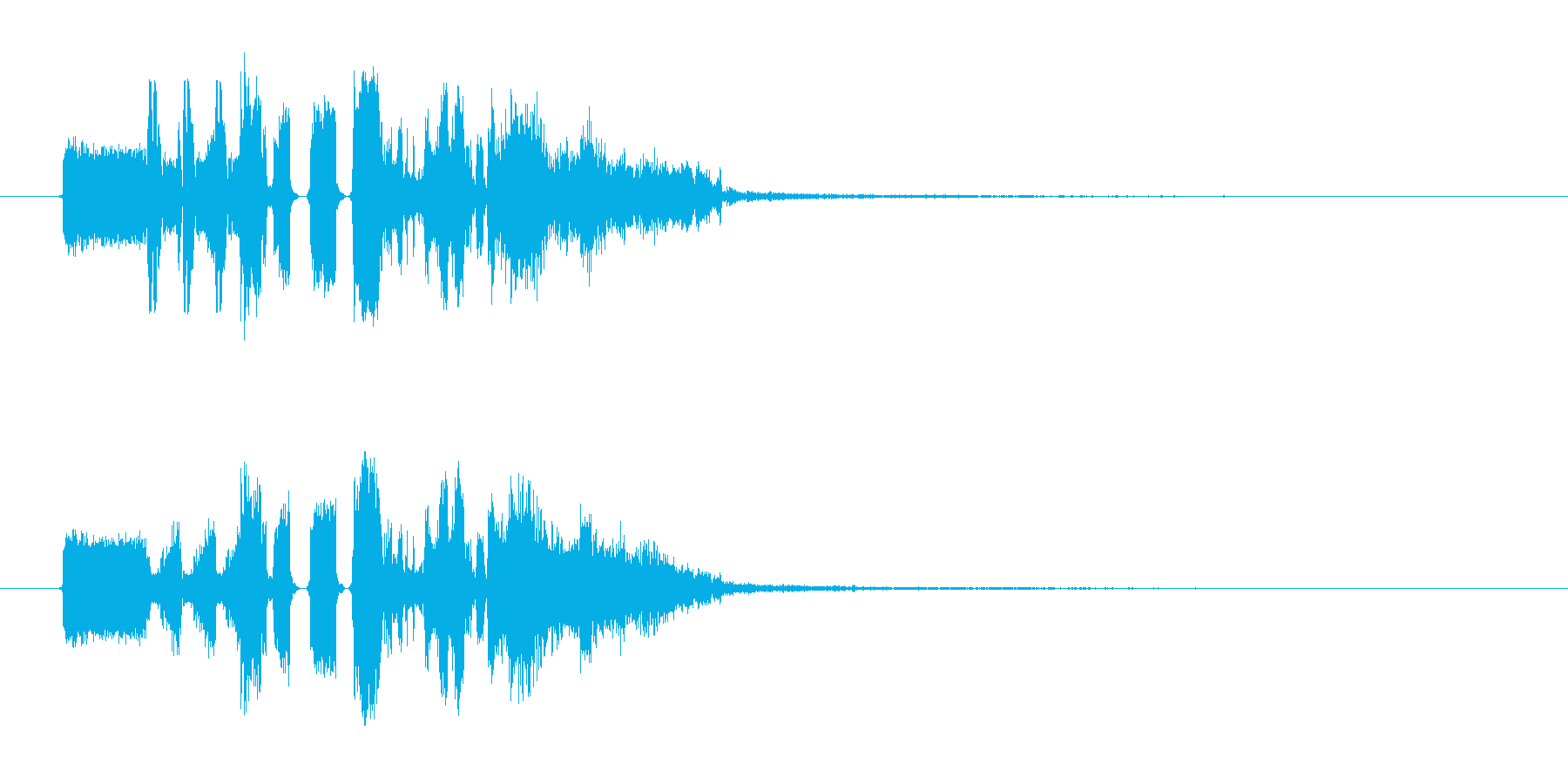 FMジングル制作にピッタリな効果音の再生済みの波形