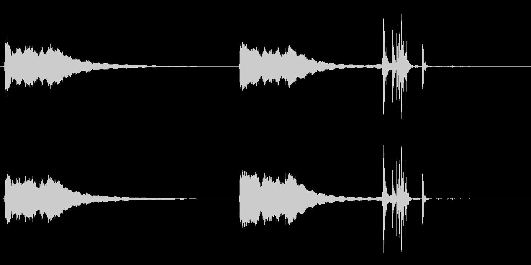 古いデスクの電話:2つのベルリング...の未再生の波形