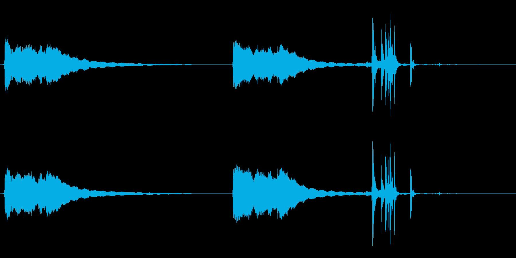古いデスクの電話:2つのベルリング...の再生済みの波形