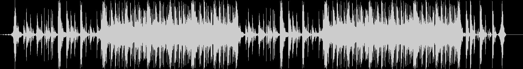 スピード感のあるドラムンベース曲の未再生の波形