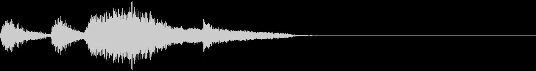 オーケストラによる謎めいたジングルの未再生の波形