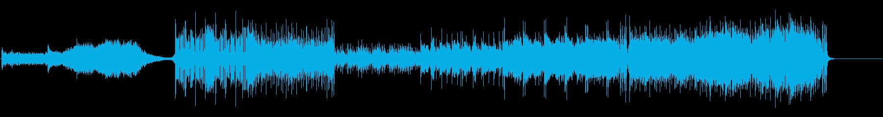 民族調なオープニング曲の再生済みの波形