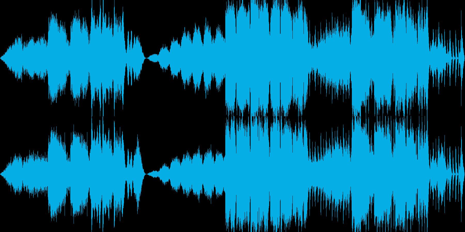 哀愁漂う民族調のレトロBGMの再生済みの波形