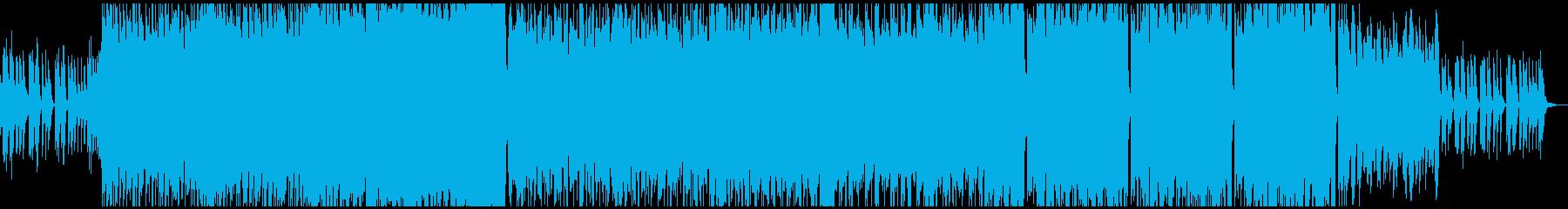 メロディーが印象的なポップ音楽の再生済みの波形