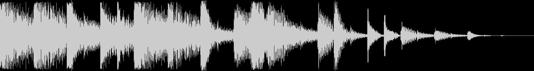 シンセとハイハットによるジングルの未再生の波形