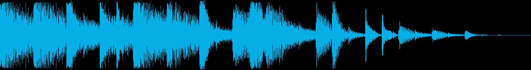 シンセとハイハットによるジングルの再生済みの波形