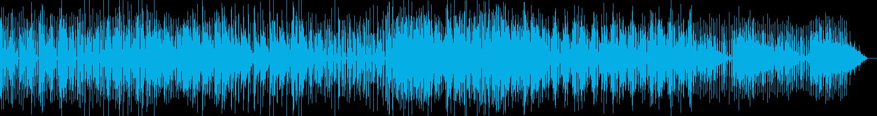 シンプルなローファイテクノの再生済みの波形