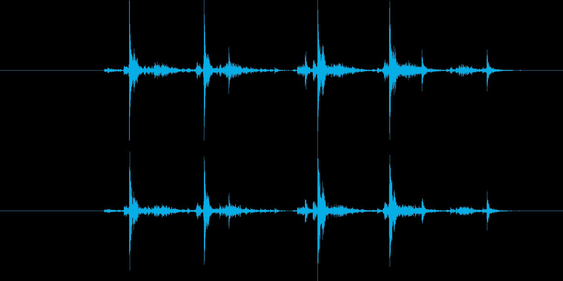 タイプライター4連打の再生済みの波形