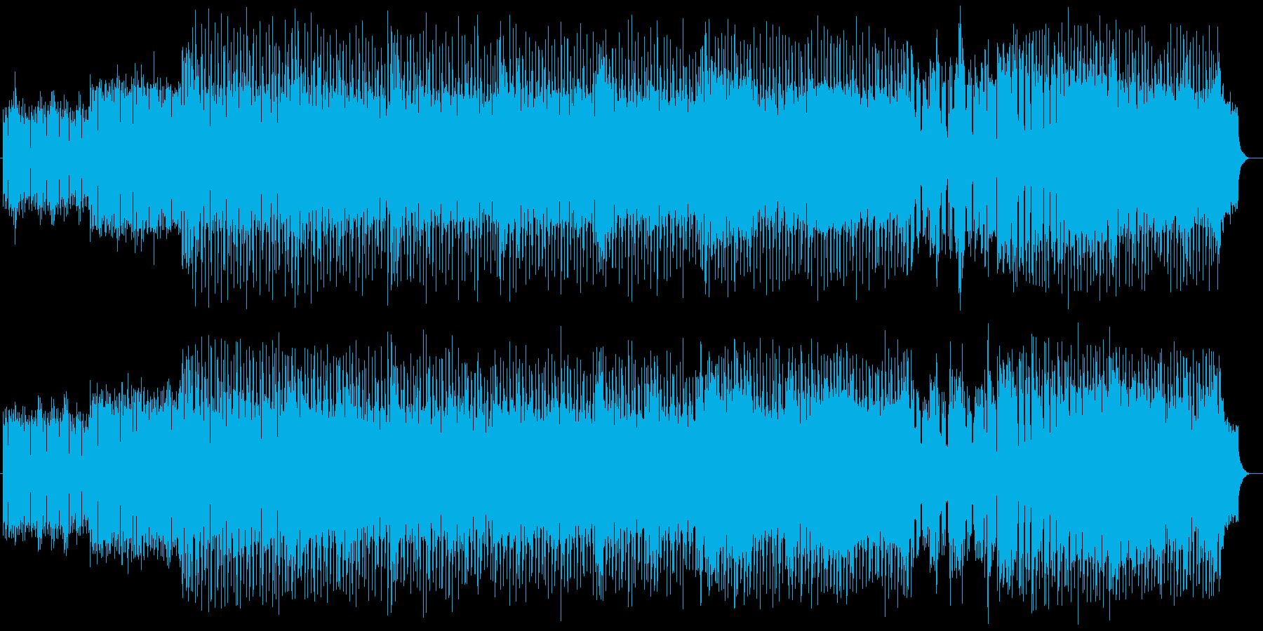 明るく楽しげな管楽器シンセサウンドの再生済みの波形