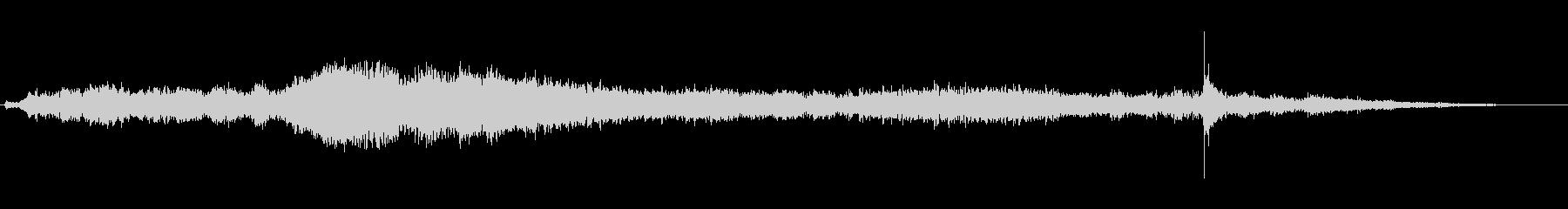 ドアの閉まる音風のアイキャッチ音の未再生の波形