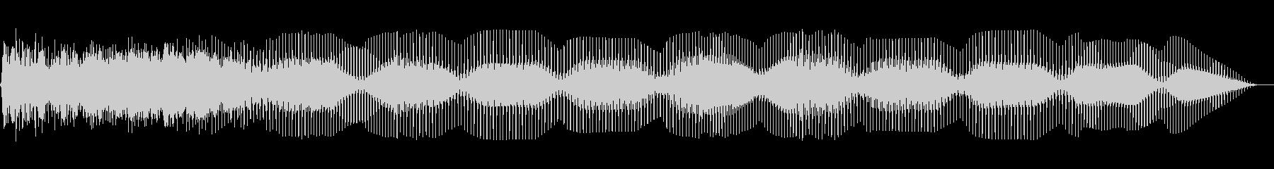 フローリングベースベッドの未再生の波形