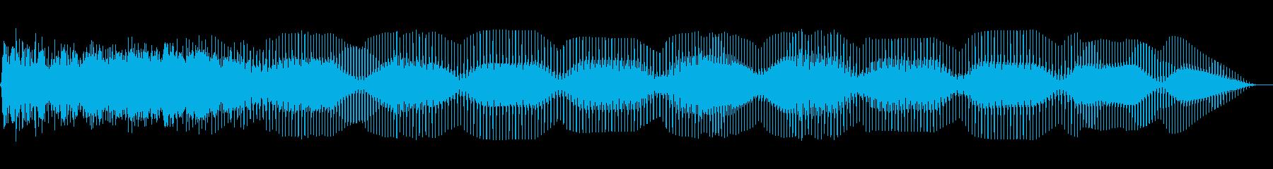 フローリングベースベッドの再生済みの波形
