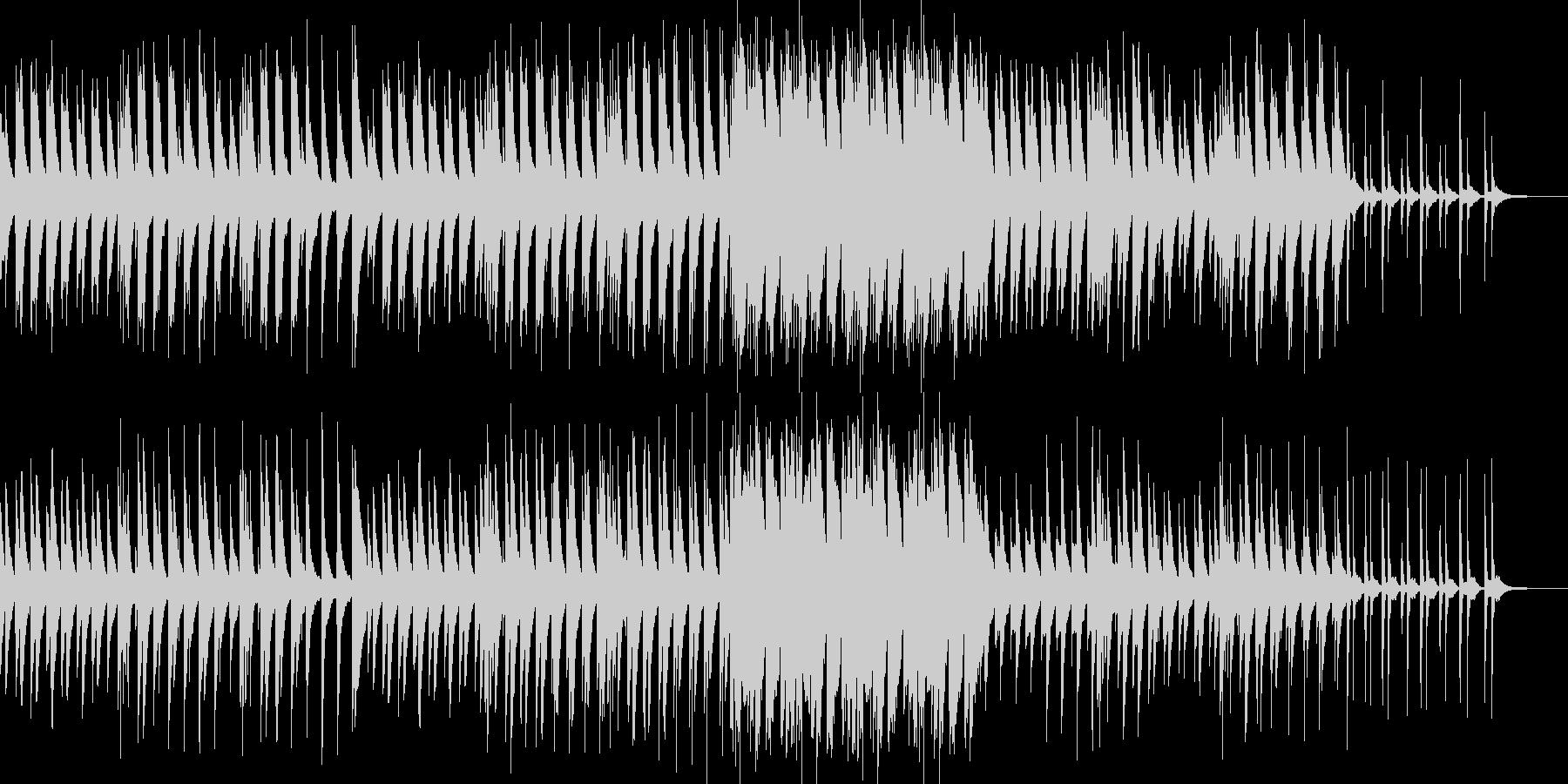ピアノソロの怪しげな三拍子のワルツ曲の未再生の波形