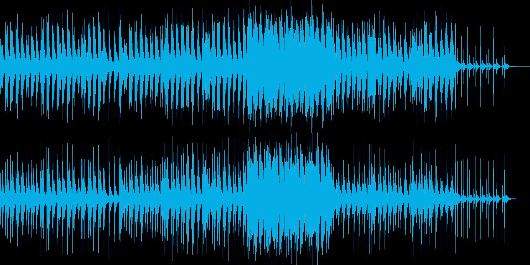 ピアノソロの怪しげな三拍子のワルツ曲の再生済みの波形