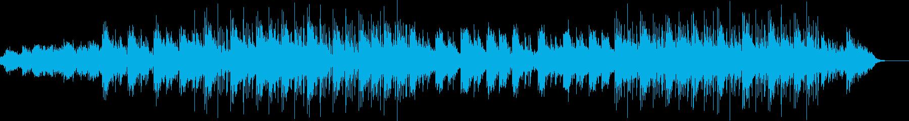 デザイン的な映像に合うエレクトリック曲の再生済みの波形