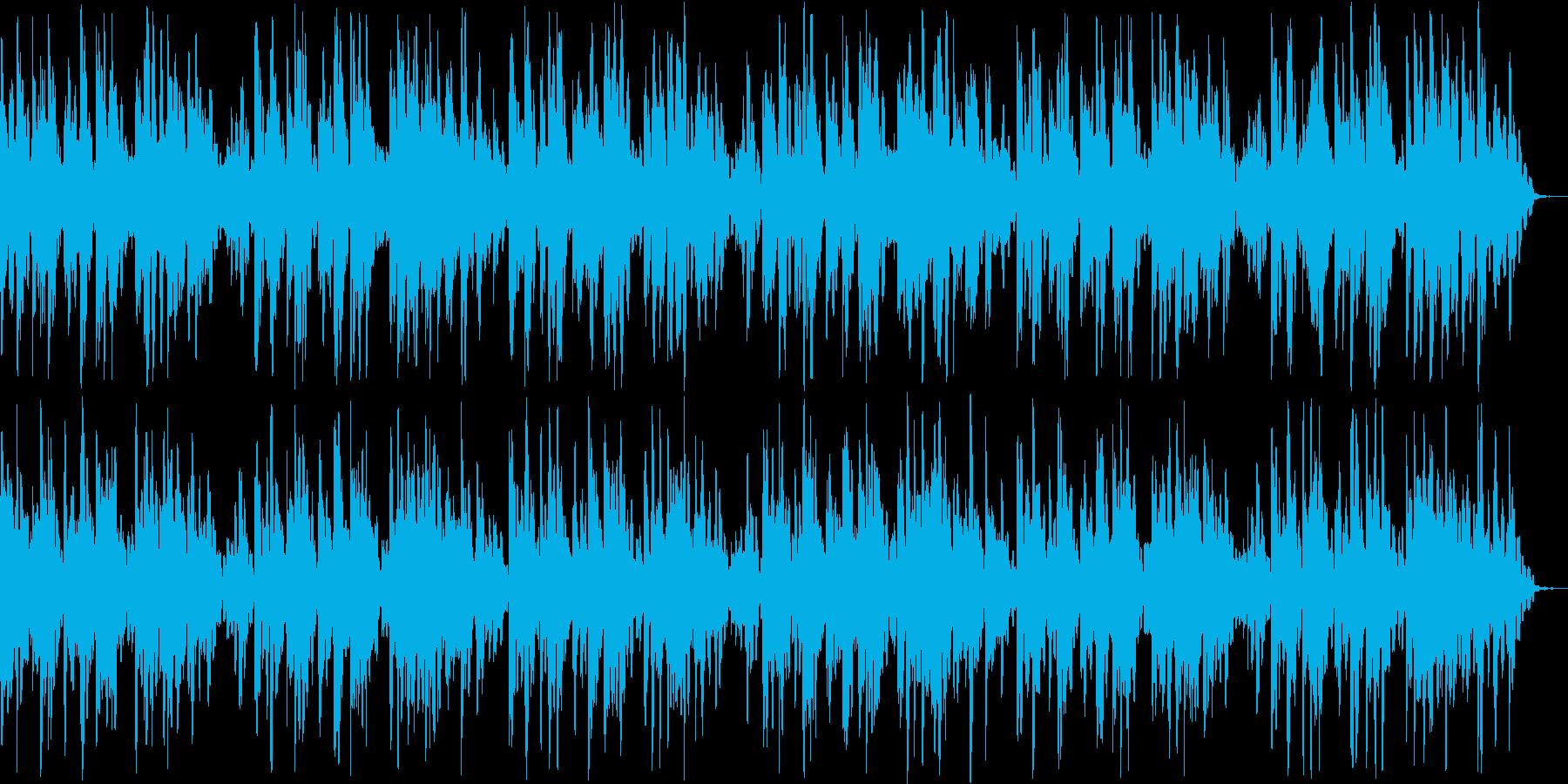 のんびりとしたリラクゼーションBGMの再生済みの波形