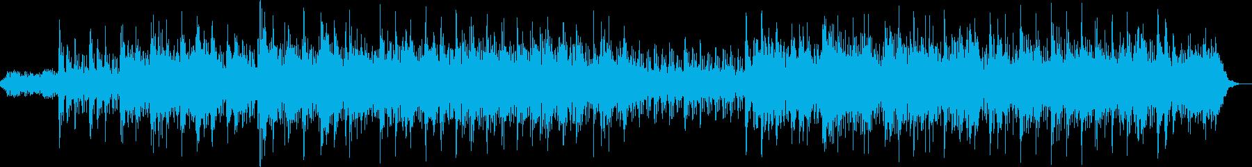 爽やかで穏やかなヒーリングBGMの再生済みの波形