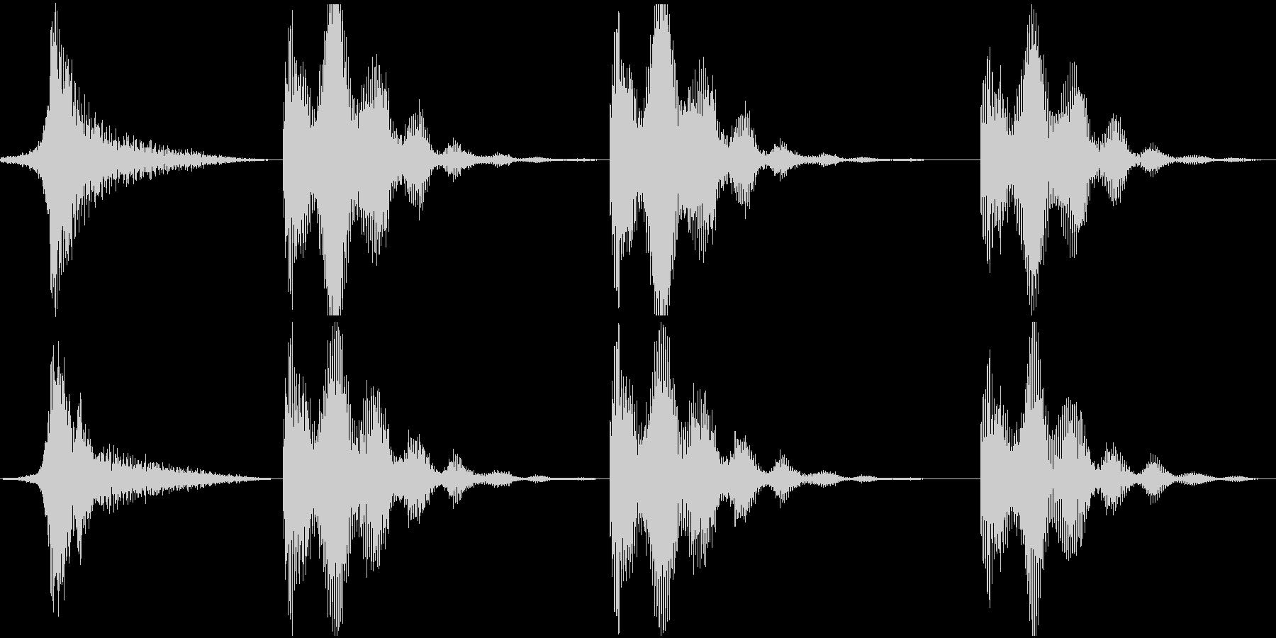 低パルスのスペースランブルスイープ...の未再生の波形