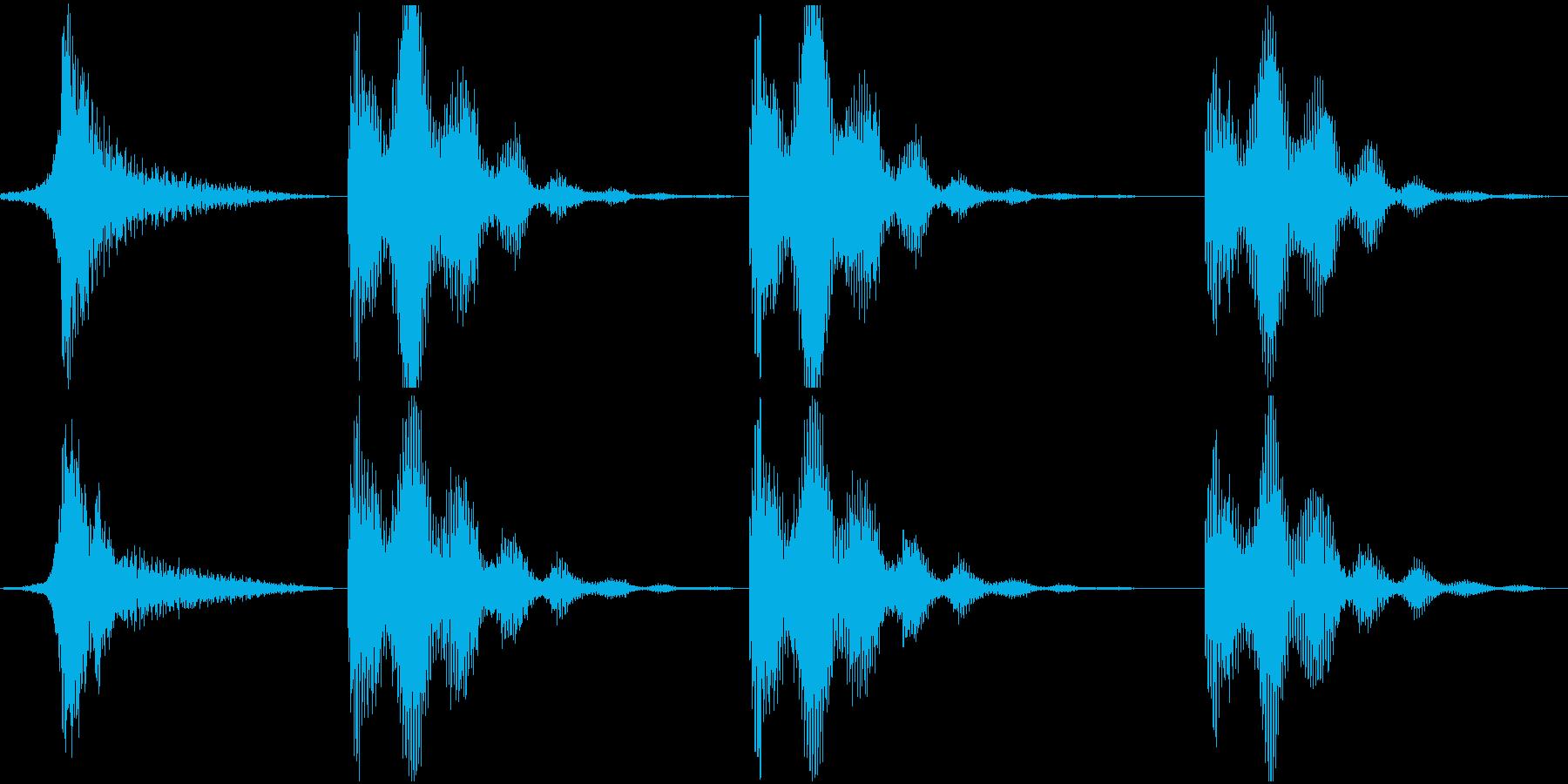 低パルスのスペースランブルスイープ...の再生済みの波形