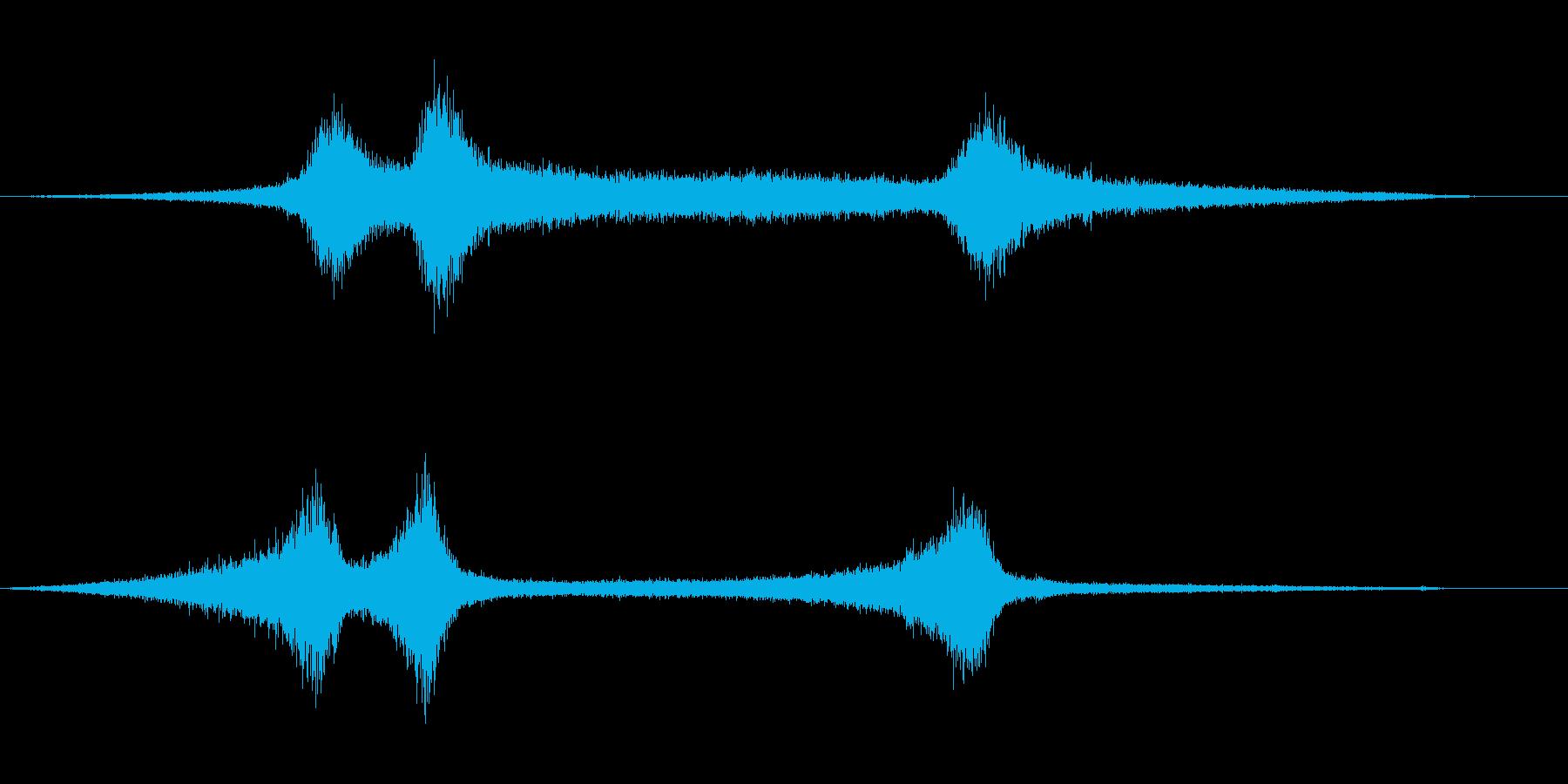 【生録音】 早朝の街 交通 環境音 9の再生済みの波形