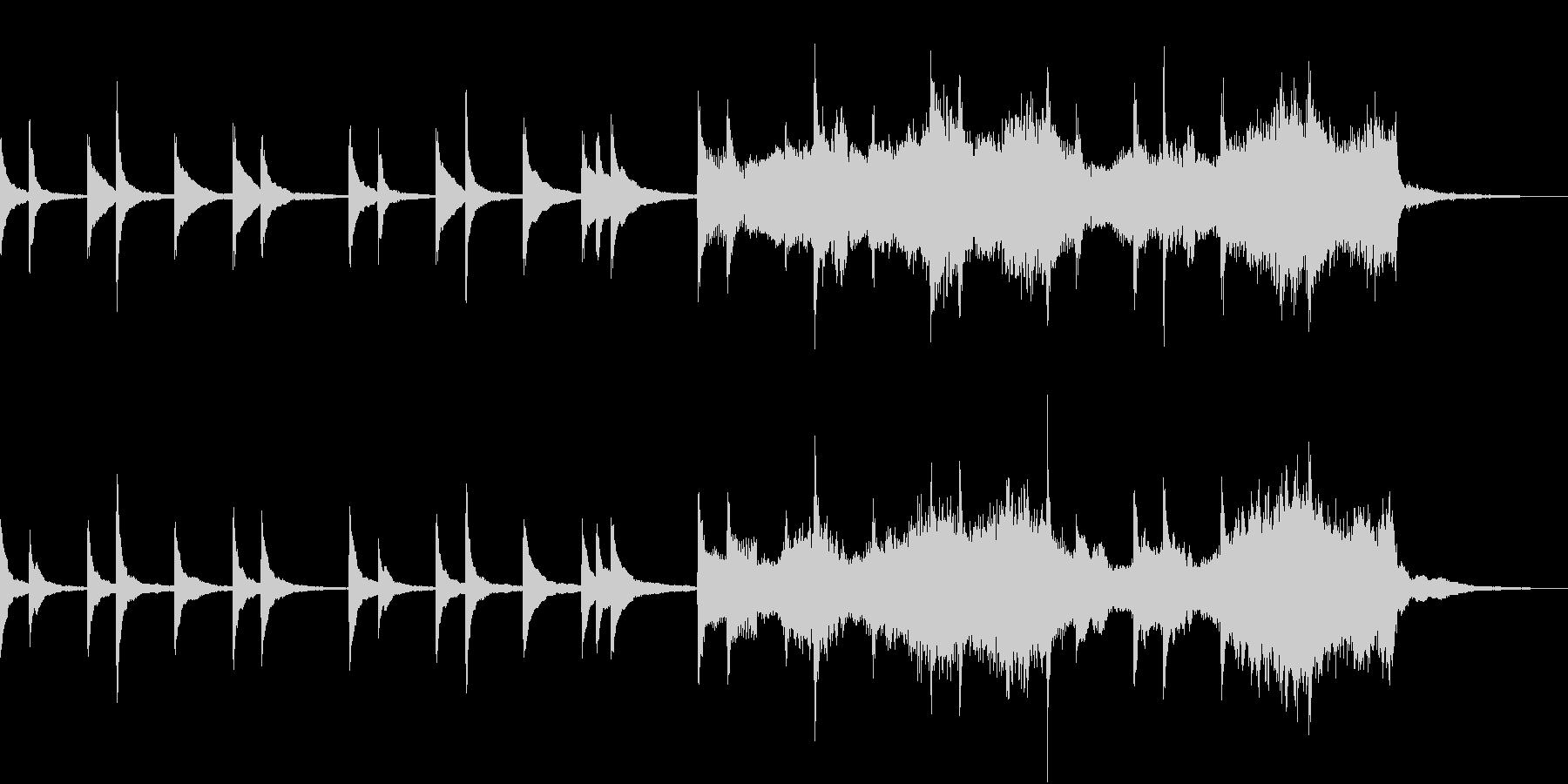 琴とストリングスのゆったりとした和BGMの未再生の波形