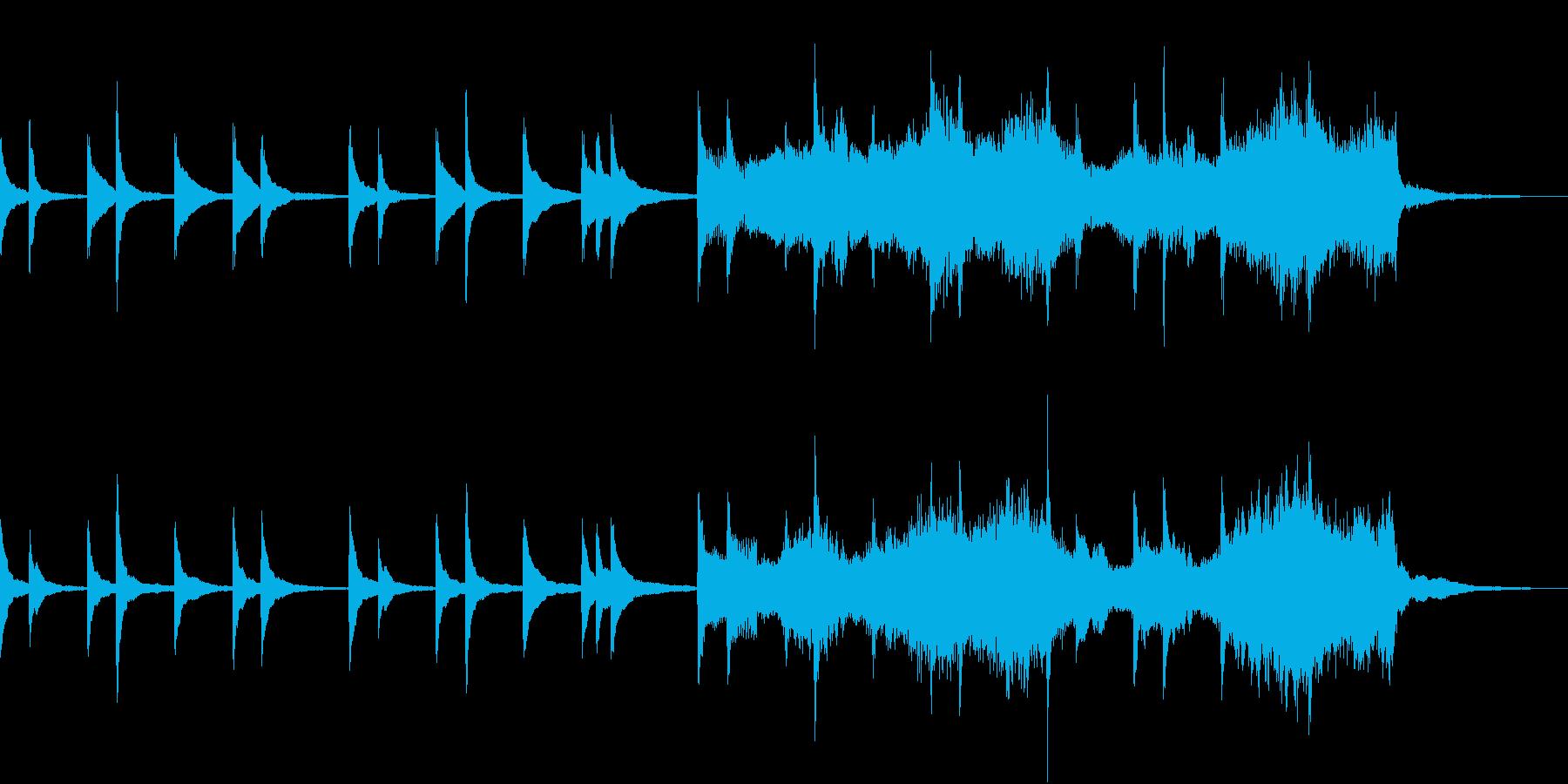 琴とストリングスのゆったりとした和BGMの再生済みの波形