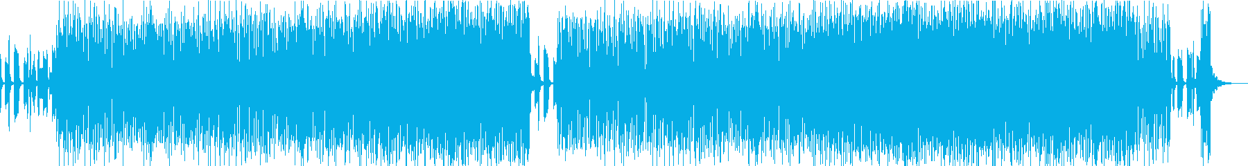 踊れるハイファイなファンクビートの再生済みの波形