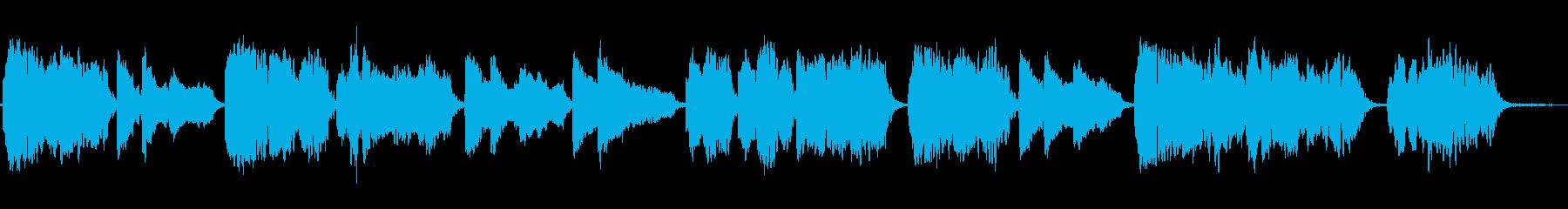 谷に響き渡るような物悲しい笛のソロの再生済みの波形
