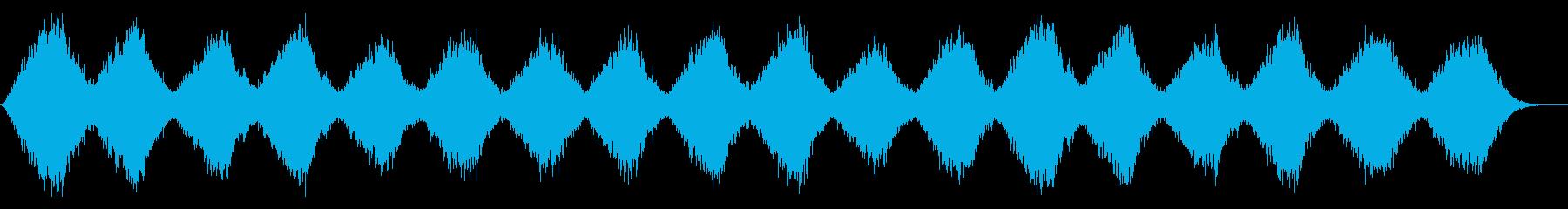 南極の風をイメージしたテクスチャーパッドの再生済みの波形